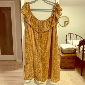 Forever 21+ Yellow Floral Dress